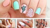Catchy Summer Nail Designs for Fun-Loving Women 60 Catchy Summer Nail Designs for Catchy Summer Nail Designs for Fun Summer Nails Almond, Summer Nails Neon, Summer Nails 2018, Colorful Nail Designs, Acrylic Nail Designs, Acrylic Nails, Gelish Nails, Diy Nails, Art Turquoise