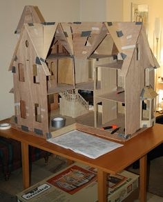 Cardboard Doll House Patterns And finally Ive made an attempt at
