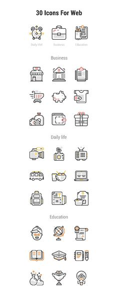 30 Free Web Design Vector Line Icons