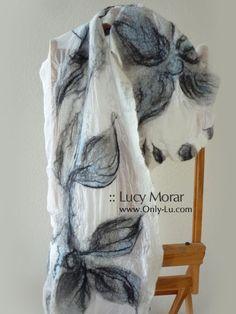 """""""Breath of the Spring"""" Felt Art Scarf by Lucy Morar"""
