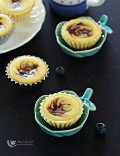 Blueberry Cheese Tartlets