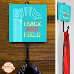 Love track and field? Our medal hanger is a great way to show it and display your bling! Exclusively from GoneForaRun.com.