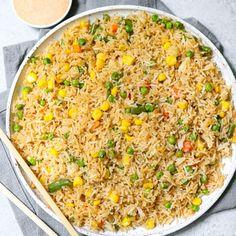Hibachi Fried Rice With Yum Yum Sauce Side Dish Recipes, New Recipes, Vegan Recipes, Dinner Recipes, Cooking Recipes, Hibachi Fried Rice, Yum Yum Sauce, Pressure Cooker Recipes, Pressure Cooking