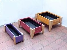 cajon para huerta o cantero madera reciclada grande