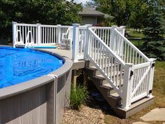 Above Ground Pool Ideas - In the summer, people like spending few hours in the swimming pool. However, you may hate the way your above ground pool looks in your backyard. Swimming Pool Decks, Above Ground Swimming Pools, My Pool, In Ground Pools, Patio Plan, Pool Deck Plans, Pool Deck Gate Ideas, Above Ground Pool Landscaping, Backyard Pool Landscaping
