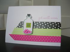 Handmade Get Well Soon Card Feel Better Card  by apaperaffaire, $3.00