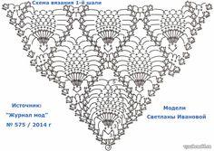 Ананасовая шаль с пушистой каймой. Описание, схема: 13 тыс изображений найдено в Яндекс.Картинках