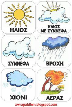 """Utazás a Country . Preschool Classroom Decor, Preschool Education, Teaching Kindergarten, Classroom Organization, Book Activities, Preschool Activities, Teaching Weather, Learn Greek, Greek Language"