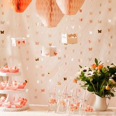 Flax and Twine Mothers Day Party Could fill with little candies or flower petals? (Little hot air balloons) Fabric Flower Tutorial, Fabric Flowers, Diy Party, Party Ideas, Fancy Party, Party Fun, Perfect Party, Mothers Day Brunch, Mothers Day Crafts