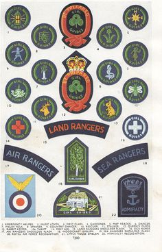 1950s Girl Guide badges