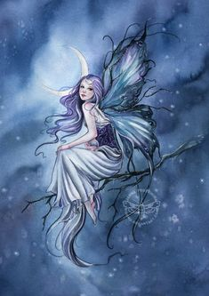 Frost Fairy by JannaFairyArt on DeviantArt * Fairy Myth Mythical Mystical Legend Elf Faerie Fae Wings Fantasy Elves Faries Sprite Nymph Pixie Faeries Hadas Enchantment Forest Whimsical Whimsy Mischievous Magic Creatures, Fantasy Creatures, Mythical Creatures, Fairy Dust, Fairy Land, Fairy Tales, Blue Fairy, Elfen Fantasy, Fantasy Art