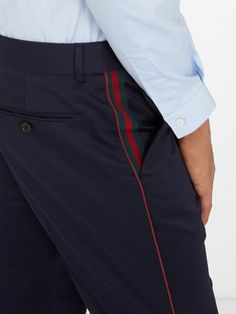Side-stripe cotton trousers | Gucci | MATCHESFASHION.COM US