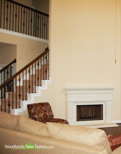 Family room features #fireplace.