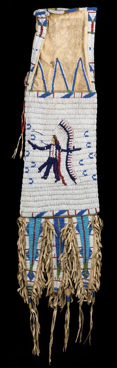 Hunkpapa Lakota (Sioux) Pictorial Tobacco Bag. Brian Lebel's High Noon Auction, January 23, 2016. Est. $12,000-16,000.