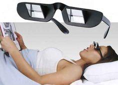 Óculos para leitura na cama em prisma