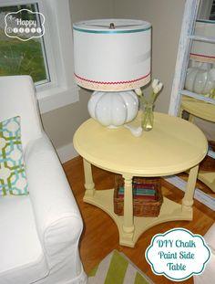 DIY home crafts DIY Chalk Paint Side Table DIY home crafts