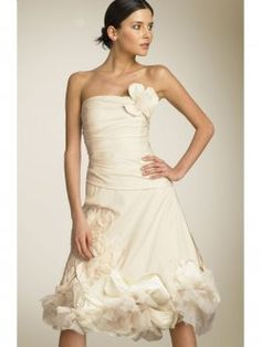 strapless for summer short wedding dresses