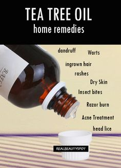 Home remedies using tea tree essential oil