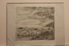 Aurelian Ghita, pencil on paper.  Winter mount