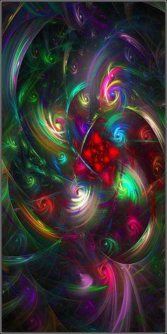 Something Abstracty in Apophysis     http://TheLostWunderland.deviantart.com/art/Rainbow-Maze-291532254