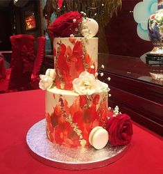 Fresh Artisanal Cakes and Bakes - Delivered to London and Birmingham Wedding Cake Red, Cakes Today, Pretty Cakes, Favours, Cake Cookies, Cookie Decorating, Yummy Treats, Cake Ideas, Naked