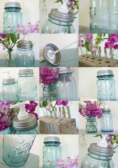 homemade mason jar soap dispensers