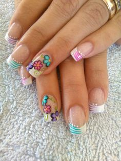 Fall Nail Art Designs, French Nail Designs, Pretty Nail Designs, Acrylic Nail Designs, Cute Toe Nails, Super Cute Nails, Pretty Nails, Sexy Nail Art, Cute Nail Art