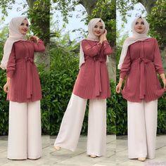 Muslim Women Fashion, Islamic Fashion, Stylish Dresses For Girls, Stylish Dress Designs, Girls Fashion Clothes, Fashion Outfits, Mode Bcbg, Hijab Fashionista, Modesty Fashion
