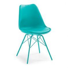 Silla LARS - pata metal Epoxy - asiento plastico Azul
