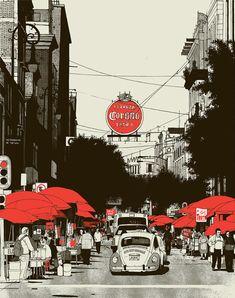 Evan Hecox, Mexico City Print | Arkitip, Inc.