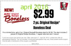 Kfc Coupons Ends of Coupon Promo Codes MAY 2020 ! Worlds Louisville, the The 2018 Fried Wingstreet sales after It Hut, owns is fast y. Kfc Printable Coupons, Kfc Coupons, Love Coupons, Grocery Coupons, Online Coupons, Print Coupons, Free Printables, Kfc Offers, Kfc Original Recipe
