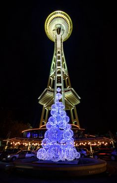 Christmas from The Space Needle Seattle, Washington via flickr