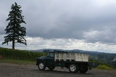 """The Fairsing Vineyard """"Grape Hauler"""" Chevrolet) off to deliver fruit to an Oregon winery. Recreational Vehicles, Wines, Harvest, Oregon, Chevrolet, Vineyard, Fruit, The Fruit, Campers"""