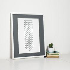 Geometric Art Print Minimalist Triangle Design by Sweet Oxen www.sweetoxen.co.uk