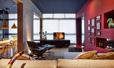 Hypnotizing Mix of Colors and Textures Displayed by Modern Apartment in Brazil