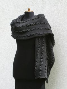 #Wrap yourself with an extremely #soft and classy #merino shawl.  Warm and beautiful, elegant and soft made of highest quality merino wool.  Made of 100% top quality merino wo... #shawl #wrap #epiconetsy #handmade #uksopro #accessories #capelet #scarf #women #grey #poltreat #poletsy