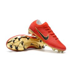uk availability 53f0b 4a683 Big Discount Nike Just Do It SOCCER Nike Just Do It MERCURIAL VAPOR FLYKNIT  ULTRA - RED GOLD BLACK In Vermont