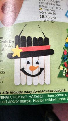 Snowman craft. Super cute and super easy!