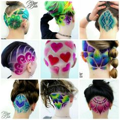 "376 Likes, 32 Comments - Angela's Hair SKULLPTURES (@angela_skullptures) on Instagram: ""Some  of the colored hairdesigns  that I did this year  big thank you to all the #awesomeclients…"""