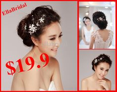 Wholesale 2013 In Stock Cheap Fashion Flower Bridal Tiara Headwear Crown for Wedding Bridal Dresses Dress Gown, Free shipping, $19.99/Piece | DHgate