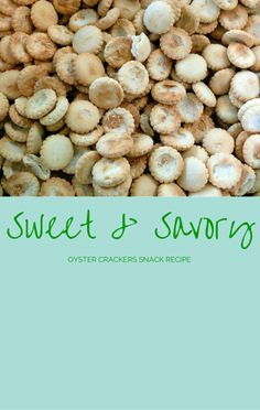 Carla Hall found a way to use something you may have in your pantry but probably don't often use: oyster crackers. Try her Sweet & Savory Cracker Snacks. http://www.foodus.com/the-chew-carla-hall-sweet-savory-cracker-snacks-recipe/