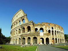 The modern day ruins of the Colosseum.