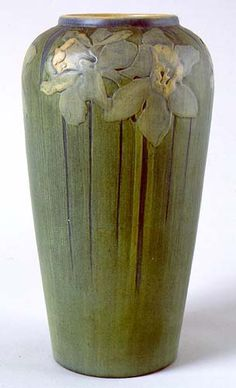 Newcomb Pottery Narcissus Vase. Decorated by Sadie Irvine (1887-1970). Circa 1913.