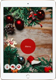 FineDine helps you to increase your revenue by digitizing the dining experience. Digital Menu, Christmas Wreaths, Christmas Ornaments, Digital Tablet, Menu Restaurant, Create, Holiday Decor, Amazing, Home Decor