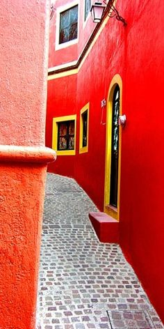 I painted my former home in the colors of México. People thought I was crazy. A forecast of a time to come? [Guanajuato, México, home of Diego Rivera]