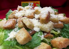 Caesar Salad........ Romaine lettuce, parmesan and croutons. Served with Caesar dressing on side……. Add Chicken 2.50 ( Party Size) 8.00