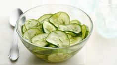 Cucumber Salad Recipe is delicious, tasteful and yammi dish. Cucumber Salad Recipe can be made in less than few minutes cucumber recipe Easy Cucumber Salad, Cucumber Recipes, Salad Recipes, Vinegar Cucumbers, Marinated Cucumbers, Mint Salad, Detox Recipes, Fruit Salad, Salads