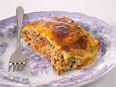 Kesäkurpitsamoussaka Mozzarella, Food And Drink, Healthy Eating, Cooking Recipes, Pie, Yummy Food, Baking, Dinner, Vegetables
