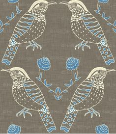 spoonflower fabric-birds