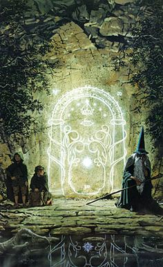 "Password Into Moria by Ted Nasmith, a ""Middle Earth"" artist from the 1980s."